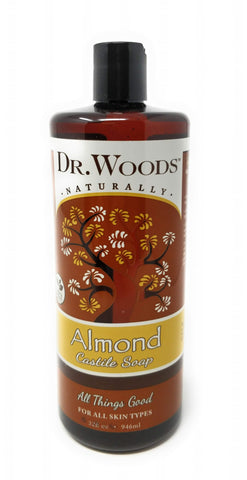 Dr. Woods Naturally Almond Castile Soap 32 oz