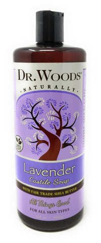 Dr. Woods Naturally Lavender Castile Soap With Fair Trade Shea Butter 32 oz