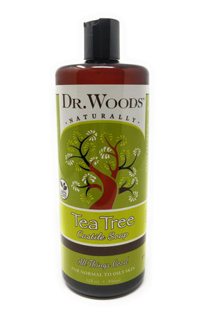Dr. Woods Naturally Tea Tree Castile Soap 32 oz