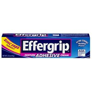 Effergrip Denture Adhesive Cream 2.5 oz