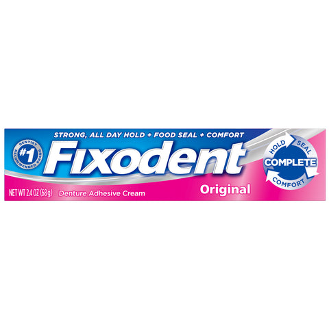 Fixodent Original Denture Adhesive Cream 2.4 oz