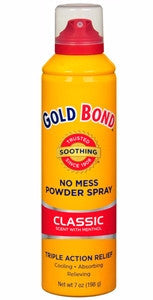 Gold Bond No Mess Body Spray Classic With Menthol 7 oz
