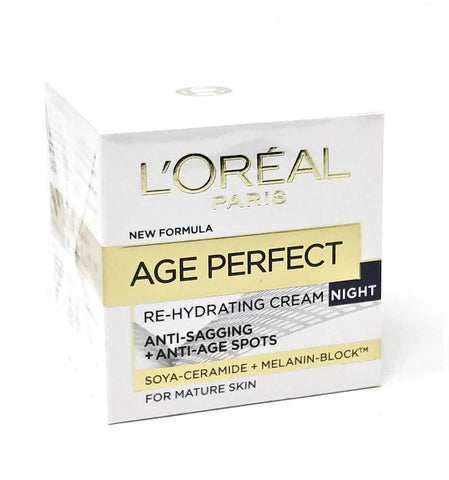 L'oreal Paris Age Perfect Re-Hydrating Cream Night for Mature Skin 50 ml