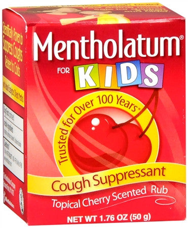 Mentholatum Cherry Chest Rub For Kids 1.76 oz