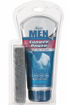 Nair Men Hair Remover Shower Power Clean Scent Body Cream 5.1 oz