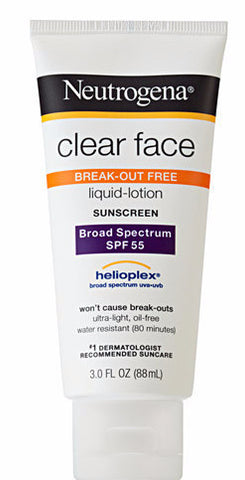 Neutrogena Clear Face Liquid-Lotion Sunscreen SPF 55 3 oz