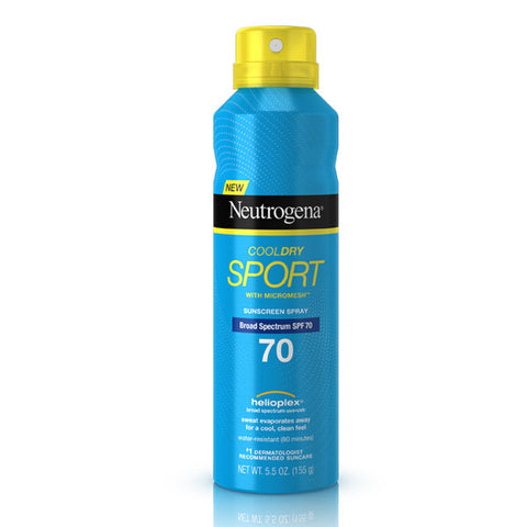 Neutrogena CoolDry Sport Sunscreen Spray Broad Pectrum SPF 70 5.5 oz