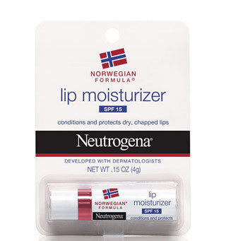 Neutrogena Norwegian Formula Lip Moisturizer Sunscreen SPF 15 0.15 oz