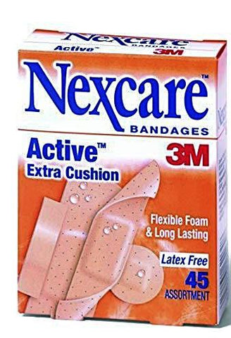 Nexcare Bandages 3M Active Foam Bandages Assorted 45 ct