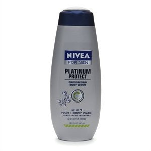Nivea For Men Platinum Protect Deodorizing Body Wash Citrus Explosion 16.9 oz.