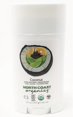 North Coast Organics Coconut 100% Natural Deodorant 2.5 oz