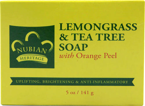 Nubian Heritage Lemongrass & Tea Tree Soap 5 oz