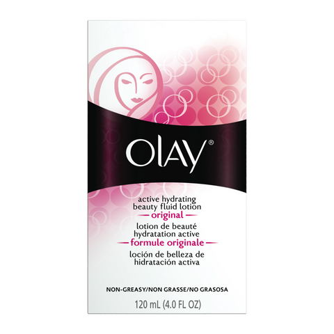 Olay Active Hydrating Beauty Fluid Lotion Original 4 oz