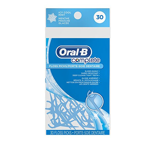 Oral-B Complete Floss Picks Icy Cool Mint 30 ea