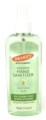 Palmer's Advanced Hand Sanitizer Soothing Aloe Antispetic Topical Spray  5.1 oz
