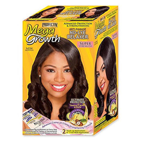 Profectiv Mega Growth Anti-Damage No lye Relaxer Super Strength 2 Applications