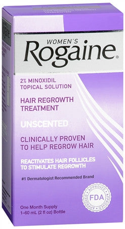 Rogaine For Women Hair Regrowth Treatment Unscented 2 oz