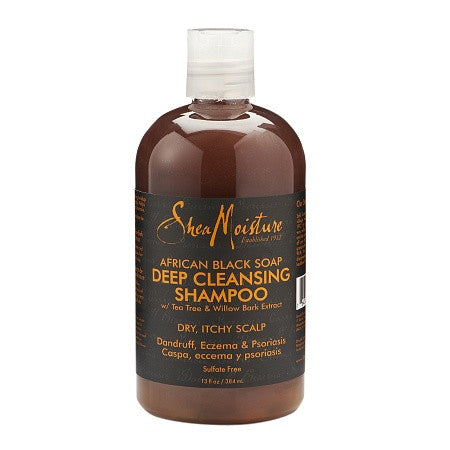 Shea Moisture Afican Black Soap Deep Cleansing Shampoo 13 oz
