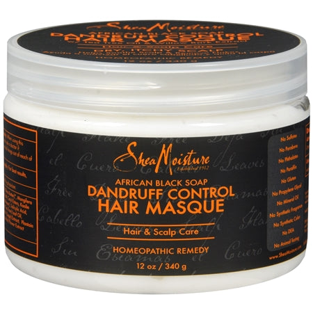 Shea Moisture African Black Soap Dandruff Control Hair Masque 12 oz
