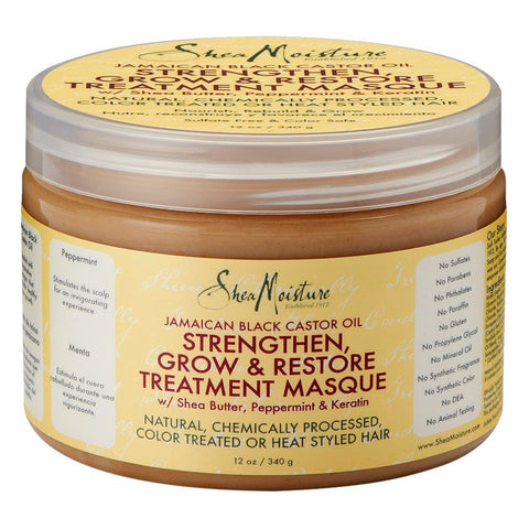 Shea Moisture Jamaican Black Castor Oil Strengthen, Grow & Restore Treatment Masque 12 oz