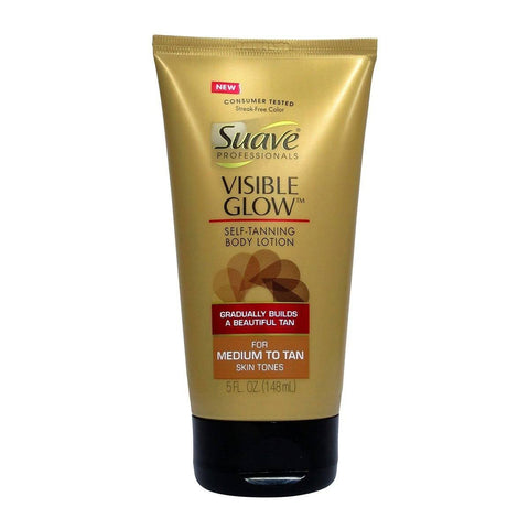 Suave Professionals Visible Glow Self Tanning Body Lotion Medium to Tan 5 oz
