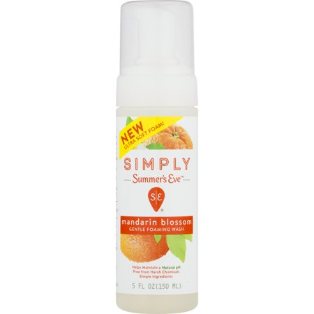 Summer's Eve Simply Mandarin Blossom Gentle Foaming Wash 5 oz