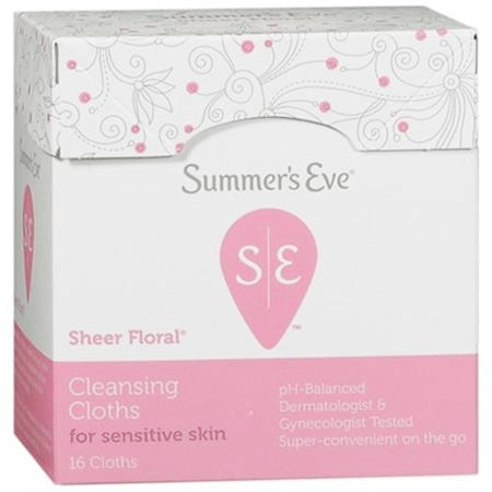 Summer's Eve Cleansing Cloths Sheer Floral For Sensitive Skin 16 Cloths