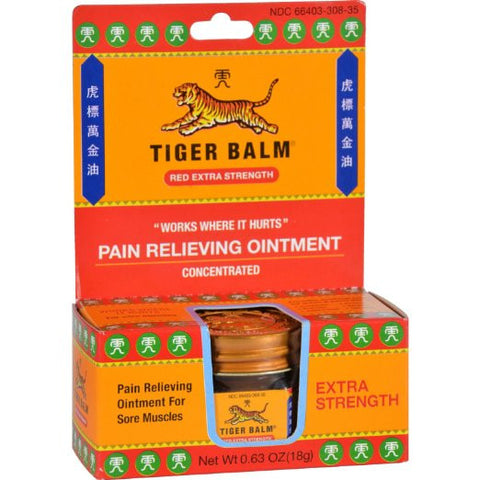 Tiger Balm Red Extra Strength Pain Relieving Ointment 0.63 oz