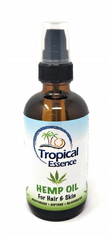 Tropical Essence Hemp Oil For Hair & Skin 4 oz