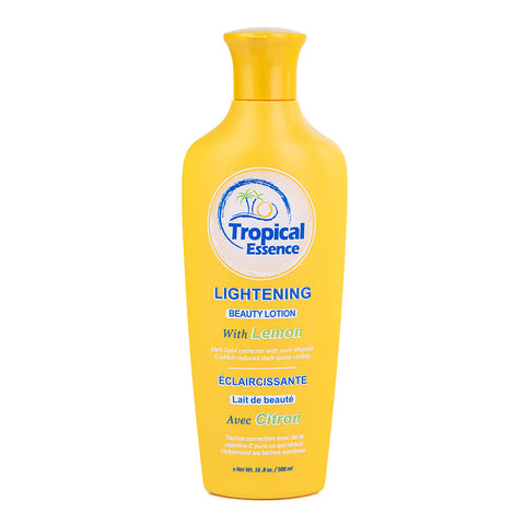 Tropical Essence Lightening Beauty Lotion with Lemon 16.8 oz