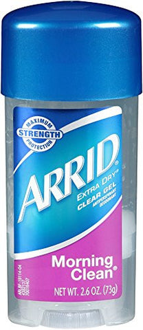 Arrid Extra Dry Clear Gel Antiperspirant Deodorant Morning Clean 2.6 oz.