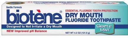Biotene Dry Mouth Fluoride Toothpaste Gentle Mint 4.3 oz.