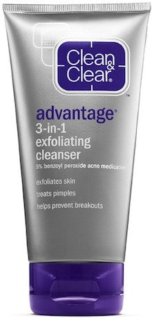 Clean & Clear Advantage 3 in 1 Exfoliating Cleanser 5 oz.