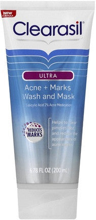 Clearasil Ultra Acne + Marks Wash and Mask 6.78 oz.