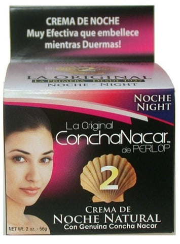 Concha Nacar de Perlop Day Cream #2 Net Wt. 2 Oz.
