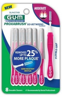 GUM Go Between Proxabrush Cleaners Moderate 8 ea.