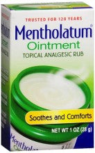 Mentholatum Ointment Topical Analgesic Rub 1 oz.