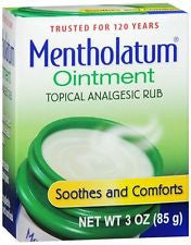 Mentholatum Ointment Topical Analgesic Rub 3 oz.