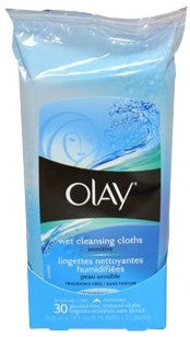 Olay Wet Cleansing Towelettes Sensitive 30 Cloths