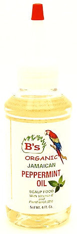 B's Organic Jamaican Peppermint Oil 4 oz.
