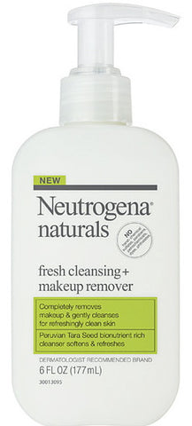 Neutrogena Naturals Fresh Cleansing + Makeup Remover 6 oz.