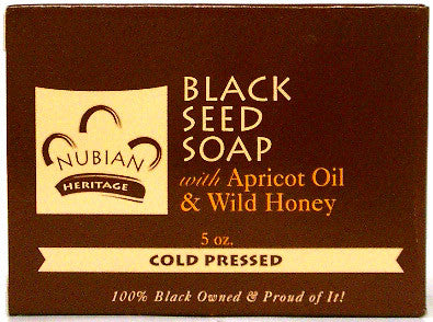 Nubian Heritage Honey & Black Seed Soap With Apricot Oil & Wild Honey 5 Oz.