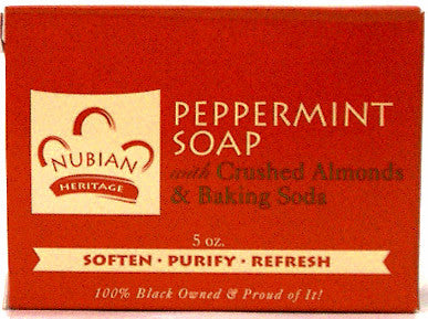 Nubian Heritage Peppermint Soap with Crushed Almonds & Baking Soda 5 Oz.