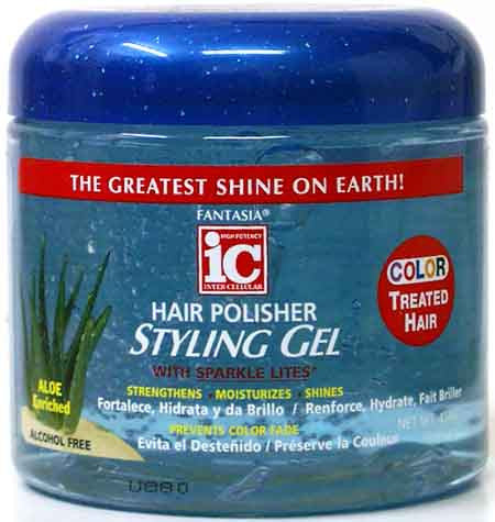 Fantasia IC Hair Polisher Styling Gel Color Treated Hair Net Wt. 16 Oz.