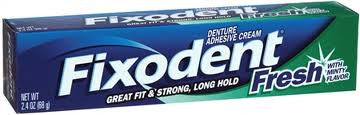 Fixodent Denture Adhesive Cream Fresh 2.4 oz.