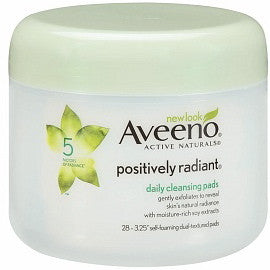 Aveeno Active Naturals Positively Radiant Daily Cleansing Pads 28 ea.
