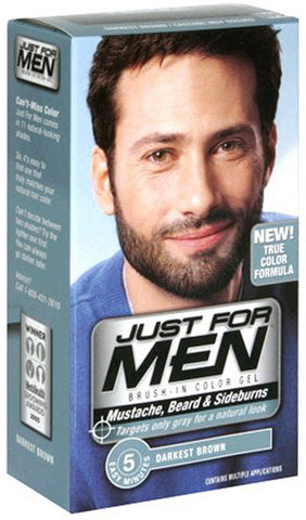 Just For Men Brush-In Color Gel Mustache, Beard & Sideburns