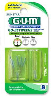 GUM Go Betweens Proxabrush Refills Tight 8 ea.