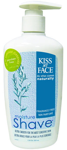 Kiss My Face Moisture Shave Fragrance Free 11 oz.