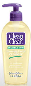 Clean & Clear Foaming Facial Cleanser Sensitive 8 Fl. Oz. (240 ml)